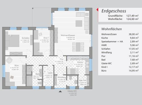 Grundriss »Rügen« Erdgeschoss