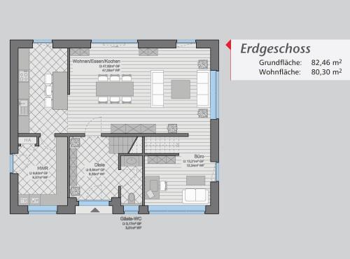 Grundriss »City Flair« Erdgeschoss