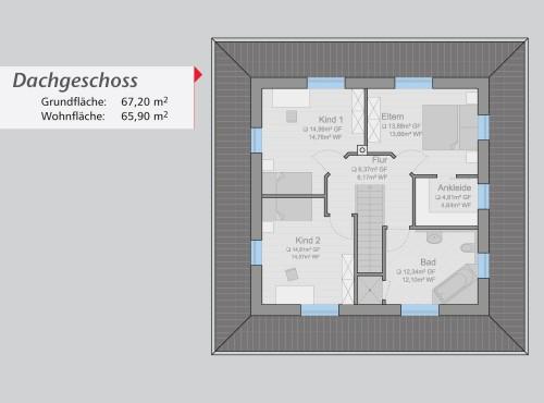 Grundriss »Schöne Aussichten« Dachgeschoss
