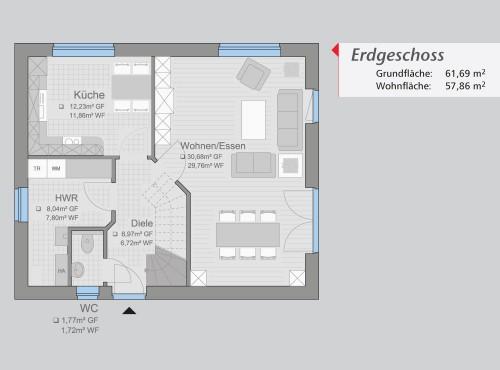 Grundriss »Start Up« Erdgeschoss