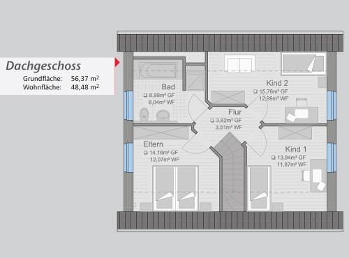 Grundriss »Start Up« Dachgeschoss