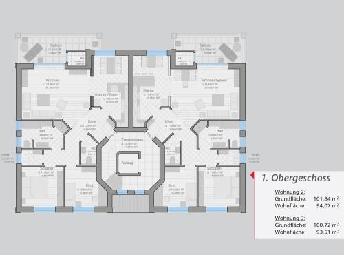 Grundriss »Ambiente« 1. Obergeschoss