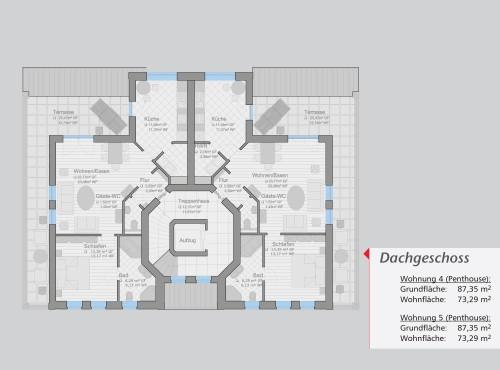 Grundriss »Ambiente« Dachgeschoss