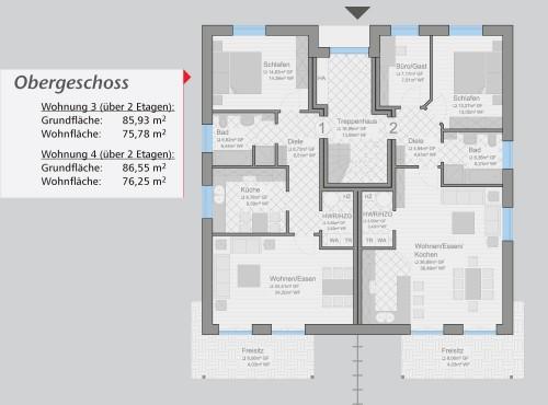 Grundriss »Classico« Obergeschoss
