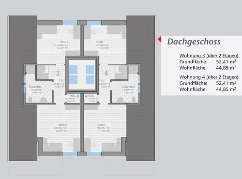 Grundriss »Classico« Dachgeschoss