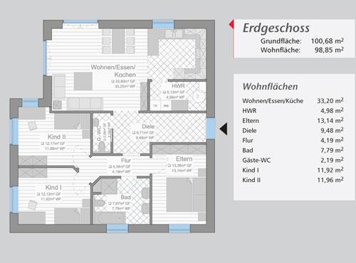 Grundriss »Sylt« Erdgeschoss
