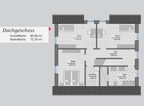 Grundriss »City Flair« Dachgeschoss