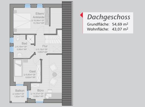 Grundriss »Life Style« Dachgeschoss
