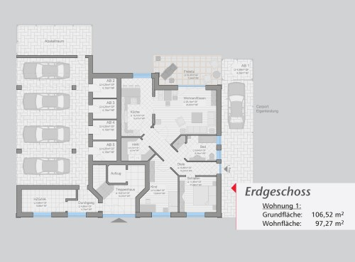Grundriss »Ambiente« Erdgeschoss
